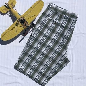 Perry Ellis Green Plaid Shorts